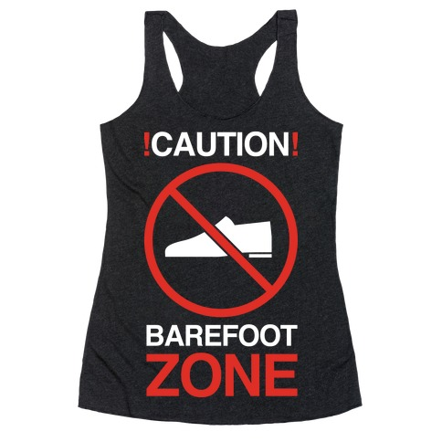 !Caution! Barefoot Zone Racerback Tank Top