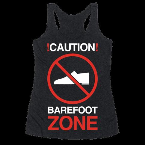 !Caution! Barefoot Zone Racerback Tank Top