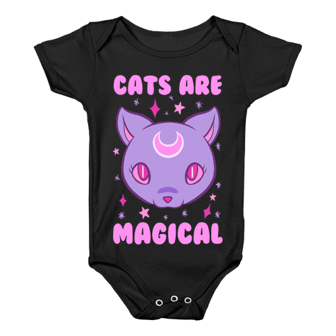 Cats Are Magical Baby Onesy