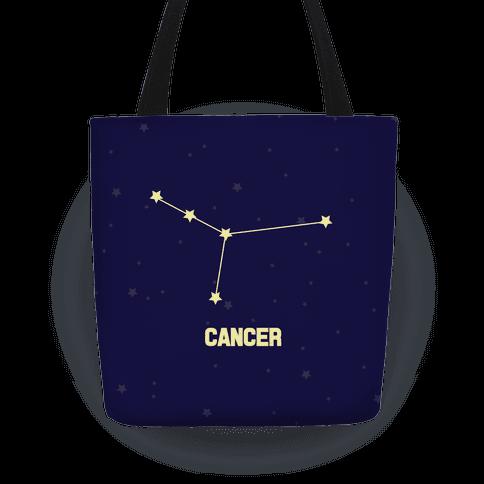 Cancer Horoscope Sign Tote Bag