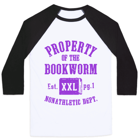 Bookworm Non Athletic Department Baseball Tee