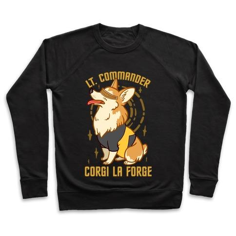 Lieutenant Commander Corgi La Forge Parody Pullover