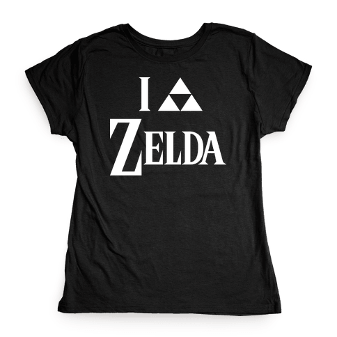 I Triforce Zelda Womens T-Shirt