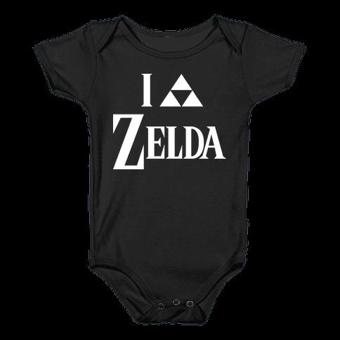 I Triforce Zelda Baby Onesy