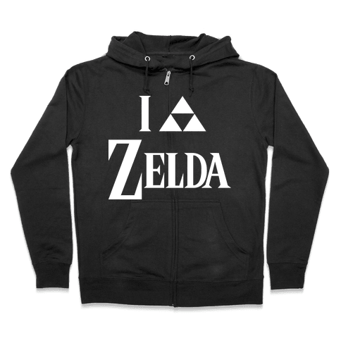 I Triforce Zelda Zip Hoodie