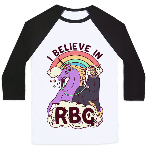 I Believe in RBG Baseball Tee