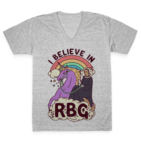 I Believe in RBG V-Neck Tee Shirt