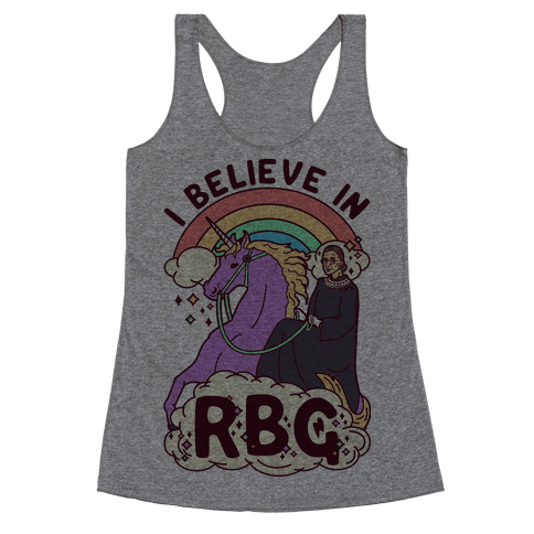 I Believe in RBG Racerback Tank Top