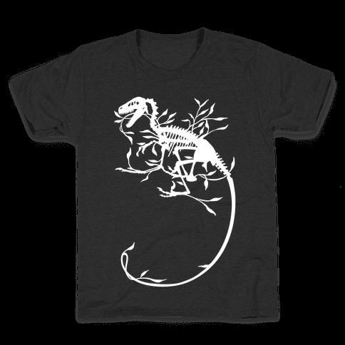 Floral Dinosaur Kids T-Shirt