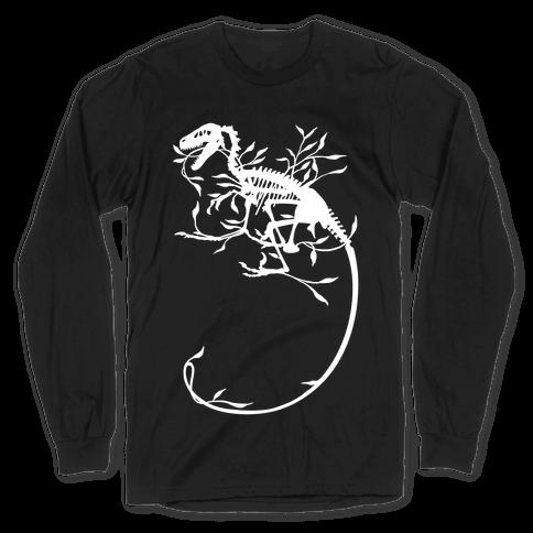 Floral Dinosaur Long Sleeve T-Shirt