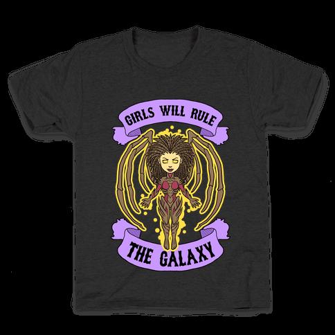 Girls Will Rule The Galaxy (Kerrigan) Kids T-Shirt