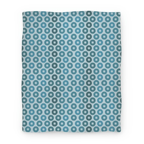 Vintage Flower Pattern Blanket (Blue) Blanket