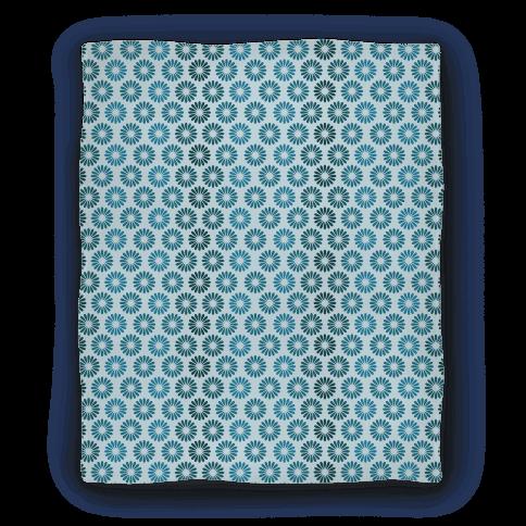 Vintage Flower Pattern Blanket (Blue) Blanket