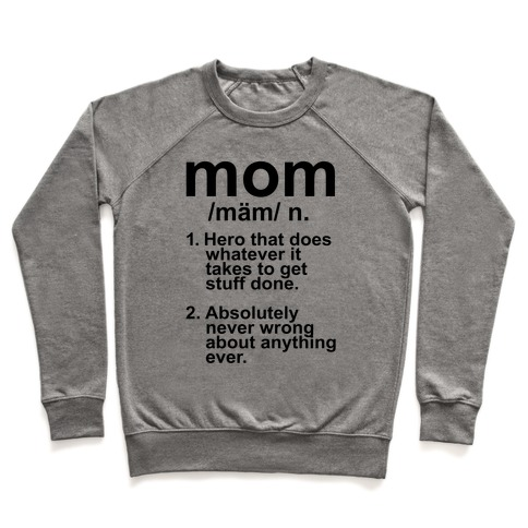 Mom Definition Pullover