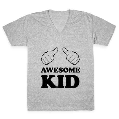 Awesome Kid V-Neck Tee Shirt