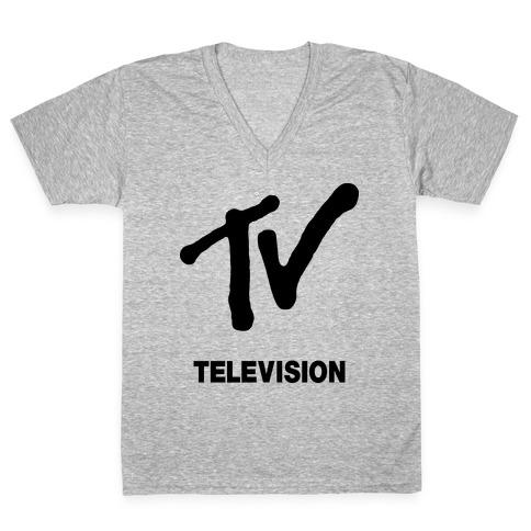 TV V-Neck Tee Shirt
