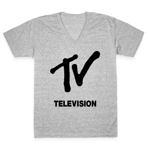 TV V-Neck Tee Shirt
