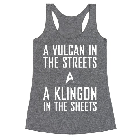 A Vulcan In the Streets Racerback Tank Top