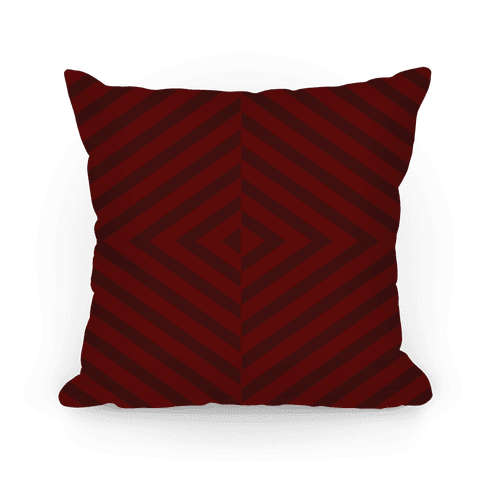 Maroon Diagonal Stripe Pattern Pillow