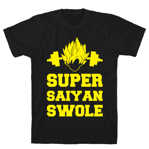 Super Saiyan Swole Mens T-Shirt