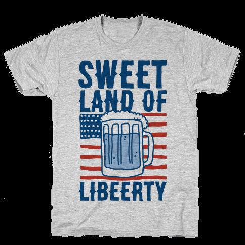 Sweet Land of Libeerty Mens T-Shirt