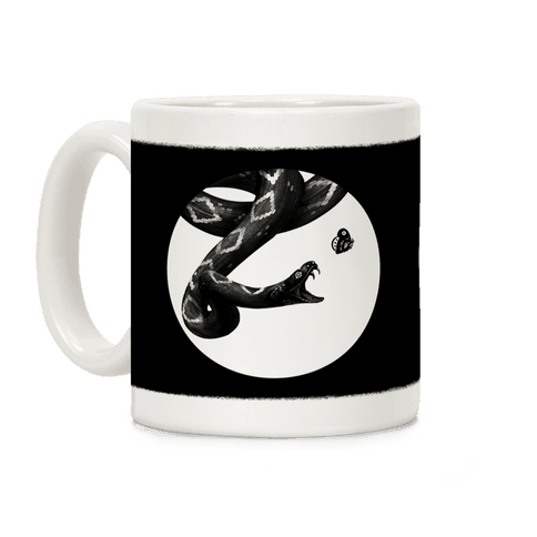 Deadly Diamonds Rattler and Moth Coffee Mug
