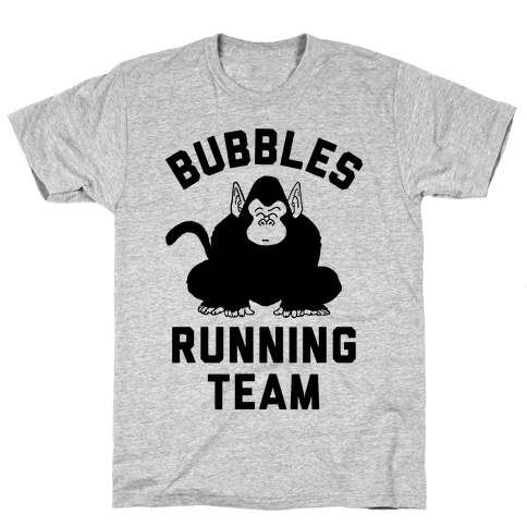 Bubbles Running Team Mens T-Shirt