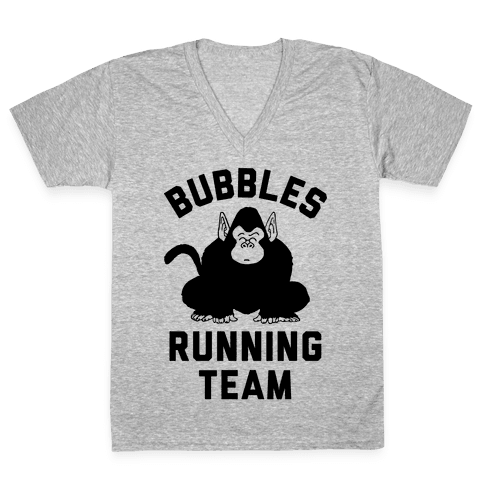 Bubbles Running Team V-Neck Tee Shirt