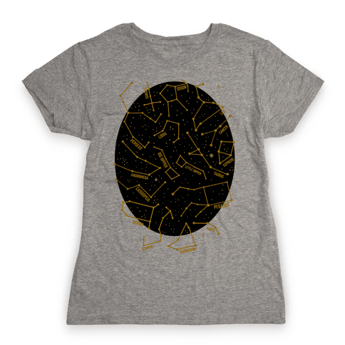 Constellation Star Pattern Womens T-Shirt