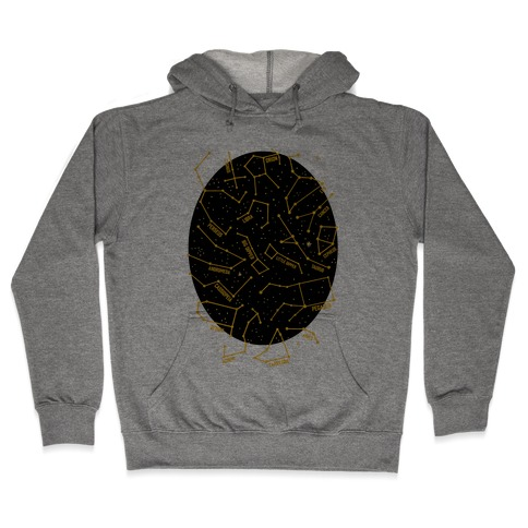 Constellation Star Pattern Hooded Sweatshirt