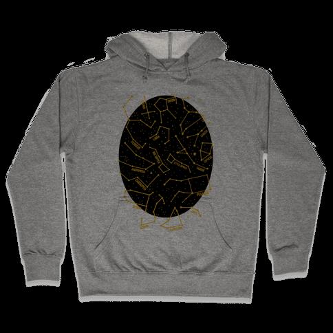 Constellation Star Pattern Hooded Sweatshirt