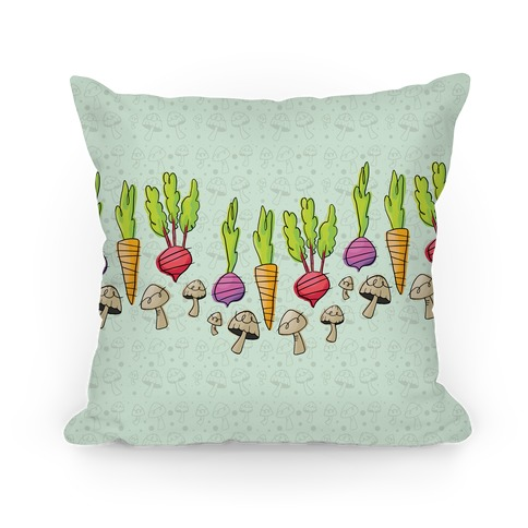 Retro Vegetable Pattern Pillow