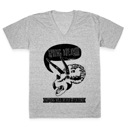 Partying Will Never Go Extinct  V-Neck Tee Shirt