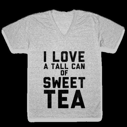 I Love Sweet Tea V-Neck Tee Shirt