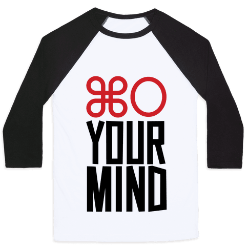 Open Your Mind Tank Baseball Tee