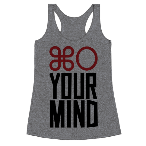 Open Your Mind Tank Racerback Tank Top