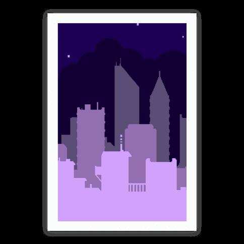 Pixel Cityscape Poster