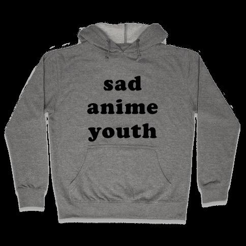 Sad Anime Youth Hooded Sweatshirt
