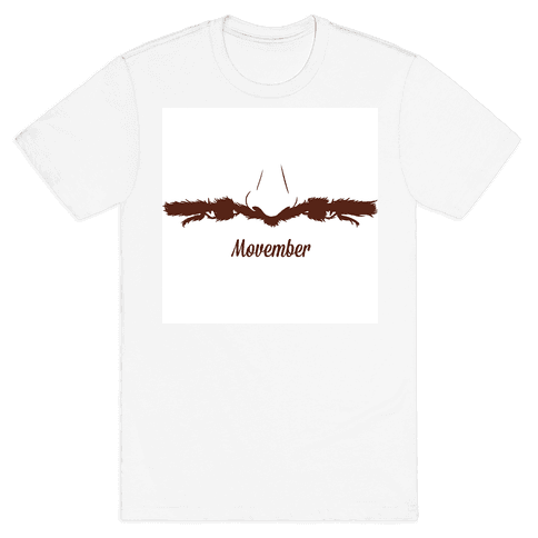 Handlebar Mustache Mens T-Shirt