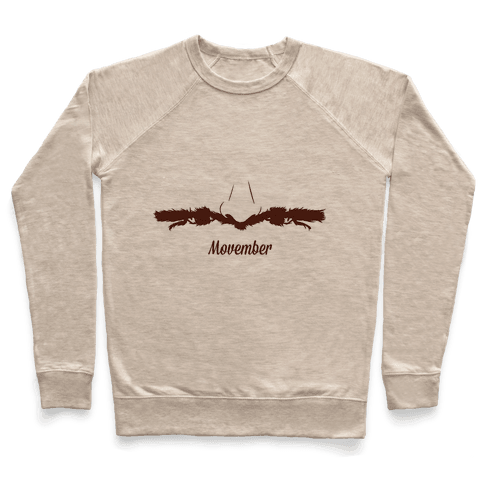 Handlebar Mustache Pullover