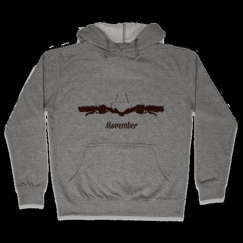 Handlebar Mustache Hooded Sweatshirt
