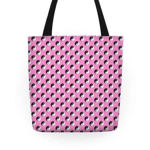 Pink Yin Yang Pattern Tote