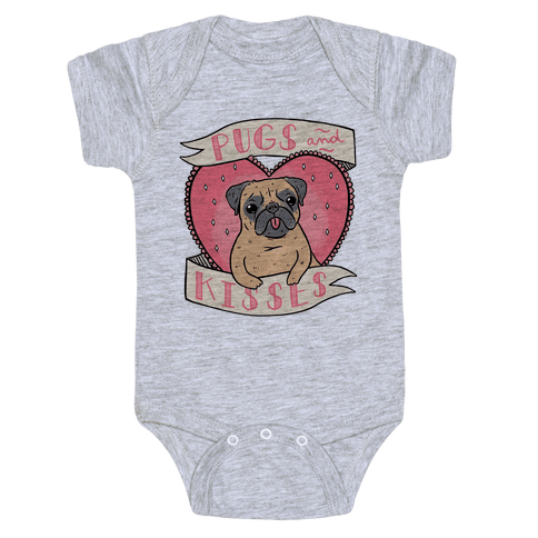 Pugs And Kisses Baby Onesy