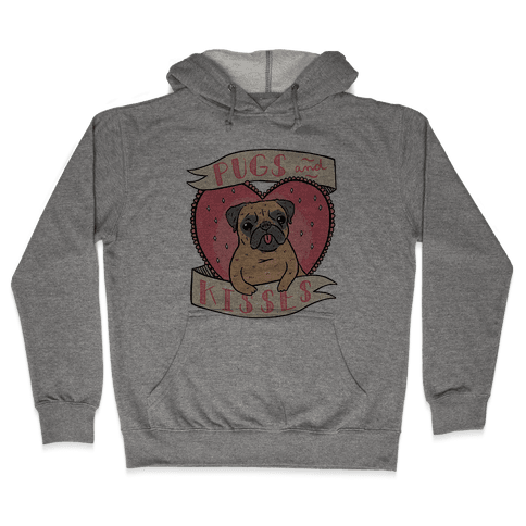 Pugs And Kisses Hooded Sweatshirt