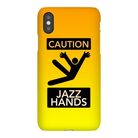Caution Jazz Hands Phone Case