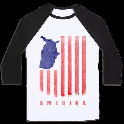 American Flag Baseball Tee