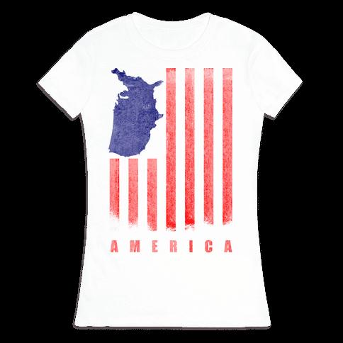 American Flag Womens T-Shirt