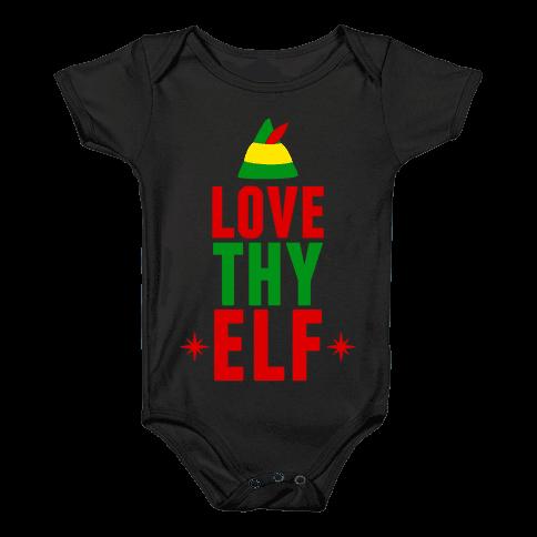 Love Thy Elf Baby Onesy