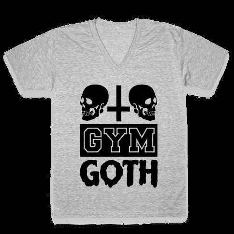 Gym Goth V-Neck Tee Shirt
