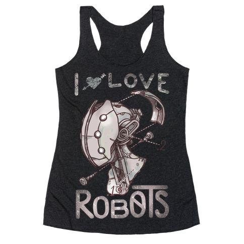 I Love Robots Racerback Tank Top